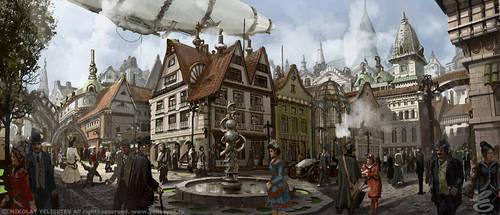 Street-square by NikYeliseyev