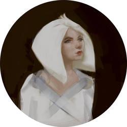 Girl portrait by NikYeliseyev