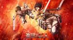 Attack On Titan Wallpaper Eren And Mikasa by Follolam