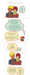 A comic of pronouns and hugs by kosmonauttihai