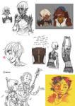 Dragon Age sketchdump by kosmonauttihai