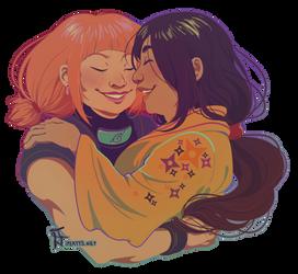 Hanabi and Moegi by kosmonauttihai