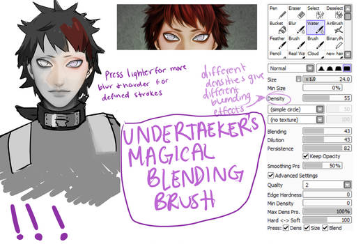Blend Brush Settings for Paint Tool Sai (OUTDATED) by HONEYxPOISON