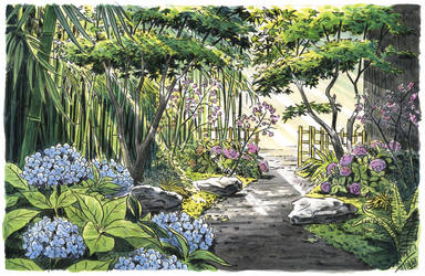 Making a Japanese garden by Atelier-Sento