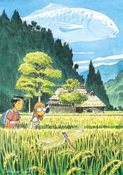 Onibi ex-libris by Atelier-Sento