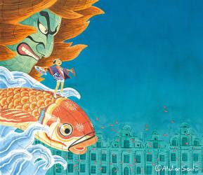 Poster for Arras Nihon Matsuri Event in France by Atelier-Sento