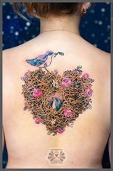 nest in progress by Karviniya