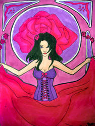 Art nouveau - Rose by Eowulia-MornElda