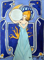 Art nouveau - Selene by Eowulia-MornElda