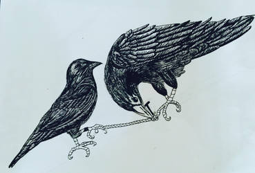 The Jackdaw and the Raven by lladycadaver