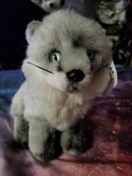 Arctic Fox Leosco Plush by sparkskull789