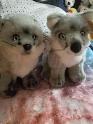 Arctic fox babies by sparkskull789