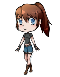 Claire Redfield (Chibi) by MsCappuccino