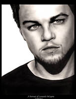 Portrait of Leonardo DiCaprio by cyphercode