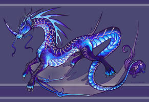 Blue Dragon by lemonfruitpie