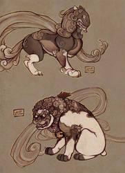 Fudog concepts by lemonfruitpie