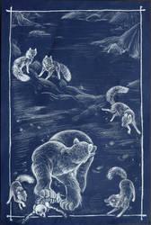Canidaelio: Arctic Fox -5- by lemonfruitpie