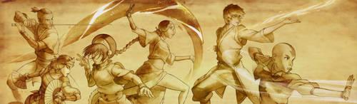 Team Avatar Aang (Legend of Korra screenshots HD) by U-No-Poo