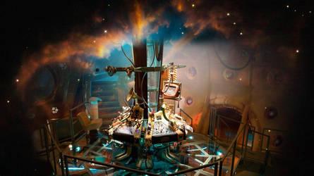 Doctor Who Wallpaper: Steampunk TARDIS interior by U-No-Poo