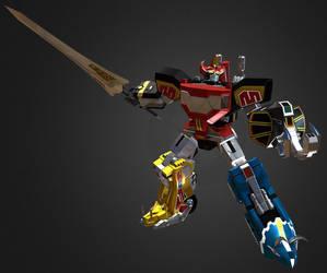 3D Dino Megazord (Daizyujin) by Ultimatetransfan