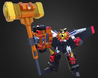 GaoGaiGar Goldion Hammer by Ultimatetransfan