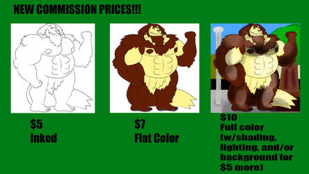 All-New Commission Price Sheet! by WolfBeast99