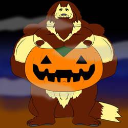 Wolf Beast Pumpkin Belly by WolfBeast99