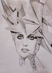 Lady Gaga 2010 Grammy's by izzyLPfreak