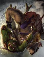 TMNT Raphael by midknight23