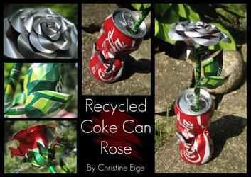 Coke Can Rose - 'Torn' Full by Christine-Eige