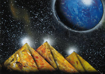Spray Painting - Pyramids by Christine-Eige