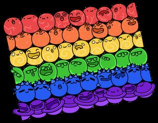 Pride Slimes by e-Readie
