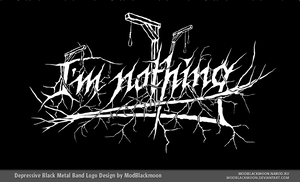 I'm nothing Logo by modblackmoon