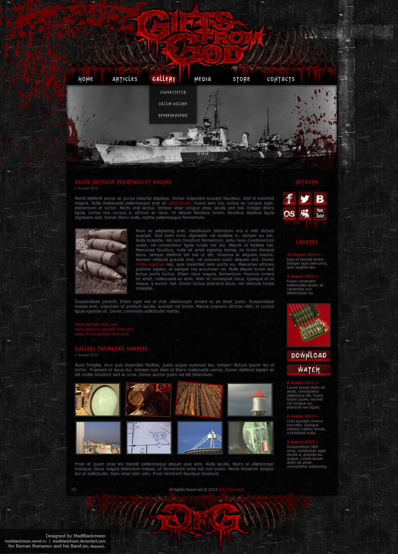 Gifts from God Website by modblackmoon