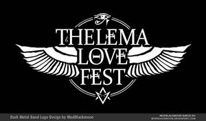 Thelema Love Fest Metal Band Logo Design by modblackmoon