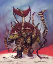 Orc Shaman by MelvinChanArt