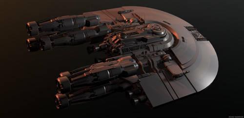 Quick Scifi ship Build by RoadWarriorZ44