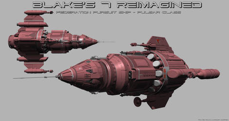 Federation Pursuit Ship - Pulsar Class WIP by RoadWarriorZ44