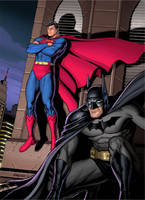 Superman and Batman 2 Colour by Habjan81