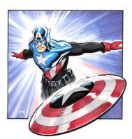Bucky Captain America Marker by Habjan81