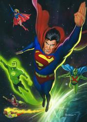 Superman Space Flight by Habjan81