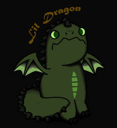 Nighty Lil Dragon by BenjiFlareon
