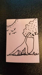 Doodle: Dino Snack by MisfitsTamara