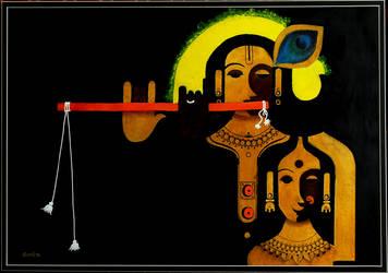 Lord Radha Krishna by Javagreeen