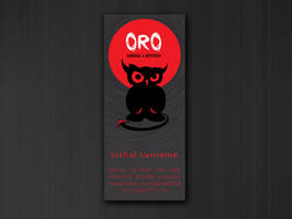 Oro Lounge Business Card II by Javagreeen
