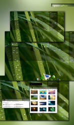 Green Saffron Desktop Theme by Javagreeen