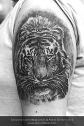 Tiger Tattoo by Sunny Bhanushali at Aliens Tattoo by Javagreeen