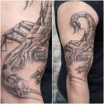 BioMechanical Scorpion Tattoo by Javagreeen