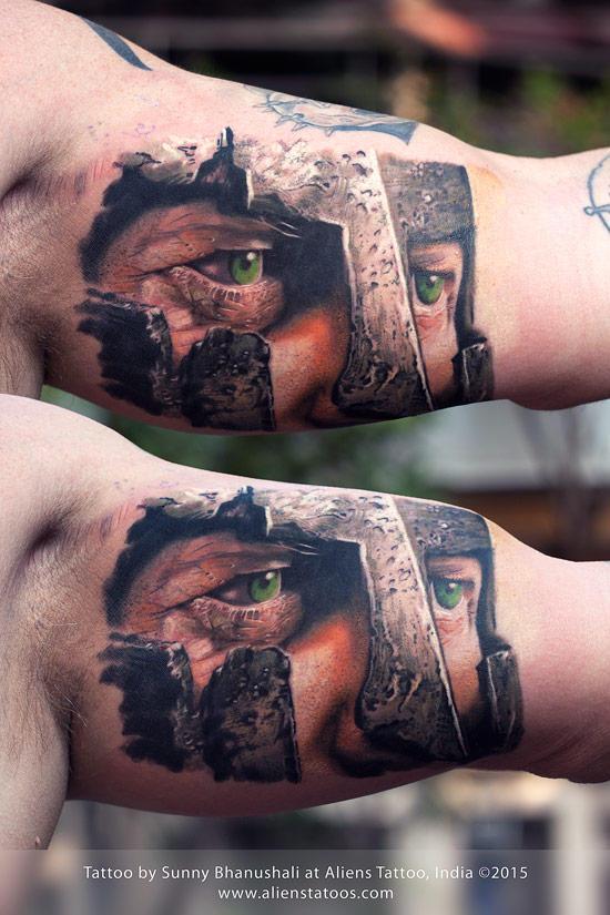Spartan Warrior Tattoo by Javagreeen