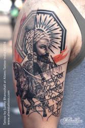Chatrapati Shivaji Maharaj Tattoo by Javagreeen